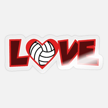 Vball love, heart, volleyball - Sticker