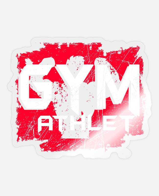 Competition Stickers - Gym athlete - Sticker transparent glossy
