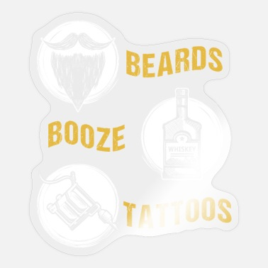 Booze Beard's Booze Tattoos - Sticker