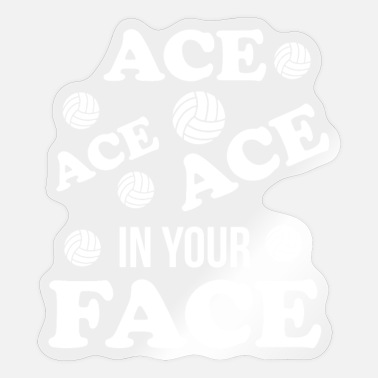 Vball Volleyball Ass In Your Face - Sticker