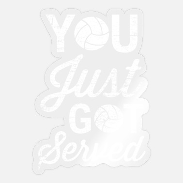 Vball Volleyball serve - Sticker