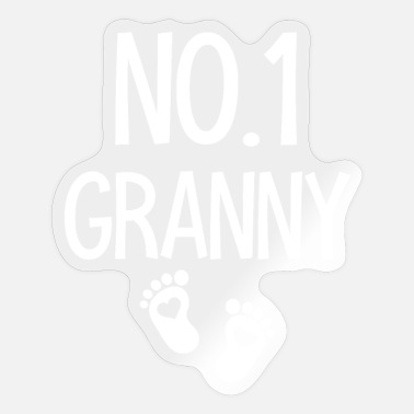 Grandchild Best grandmother and grandma gift idea - Sticker