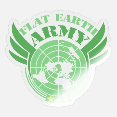 Flat Rate Flat Earth Army Flat Earth Society - Sticker