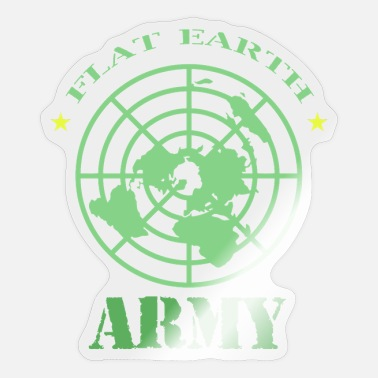 Flat Rate Flat Earth Society Flat Earth Army - Sticker