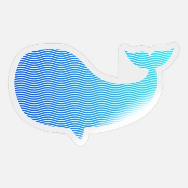 Wale wale from waves and sea - Sticker