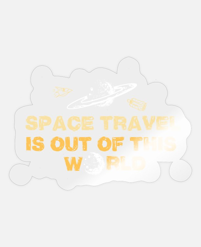 Travel Stickers - Space travel solar system missile gift - Sticker transparent glossy