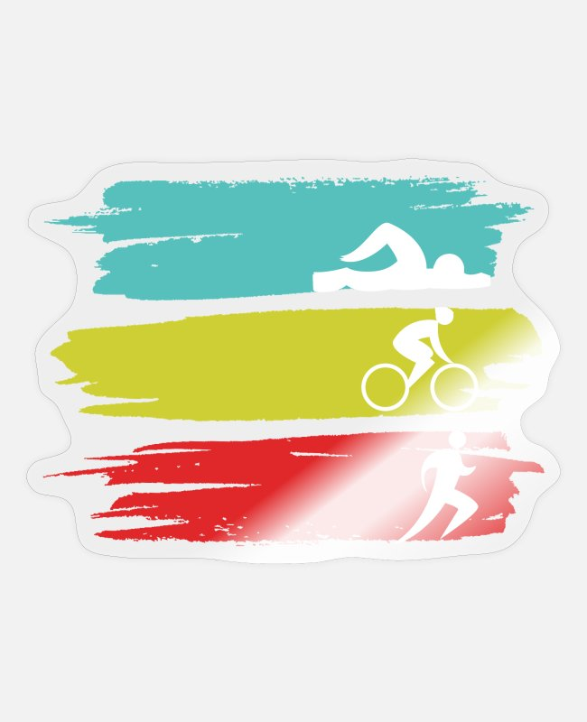 Training Sticker - Triathlon Extremsport - Sticker Transparent glänzend