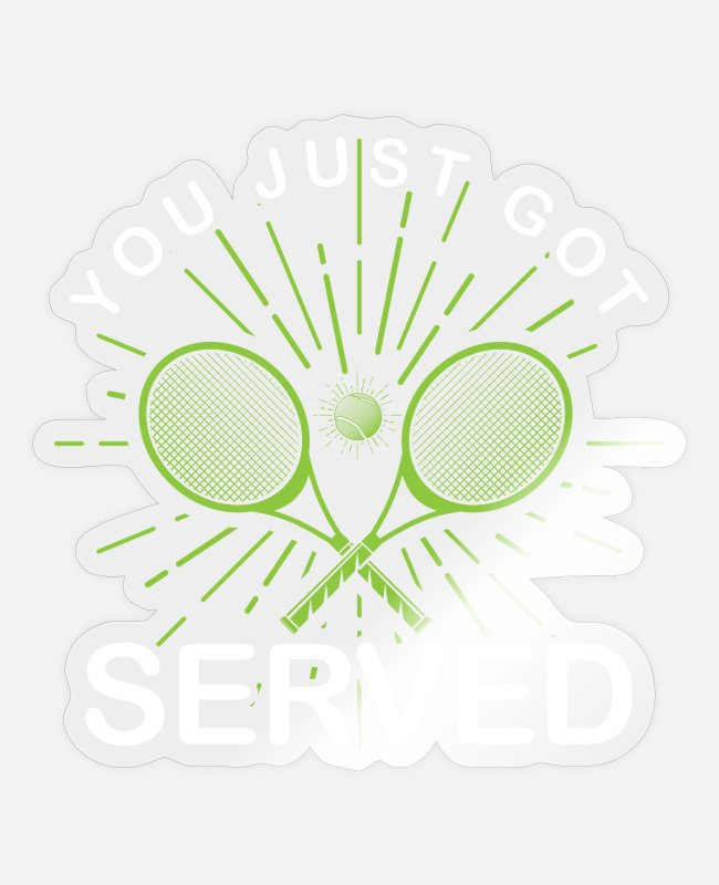 Blow Up Stickers - tennis - Sticker transparent glossy