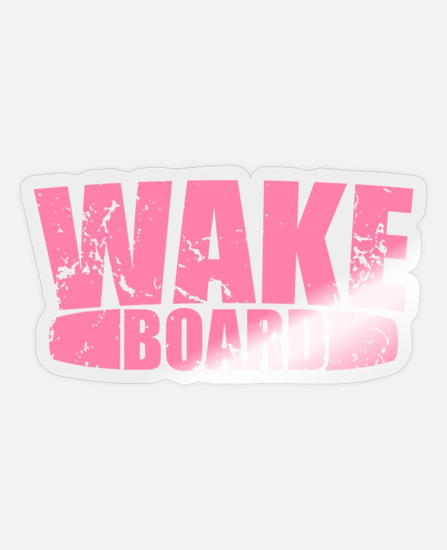 Aquatics Stickers - Sea wakeboarder wakeboarding wakeboard water - Sticker transparent glossy