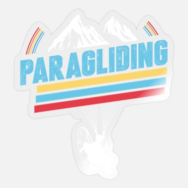 Paragliding Retro Paragliding retro - Sticker