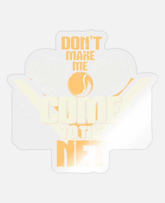 Tennis Racket Stickers - tennis - Sticker transparent glossy
