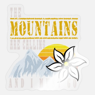 The mountain gets rock climbing with Edelweiss - Sticker