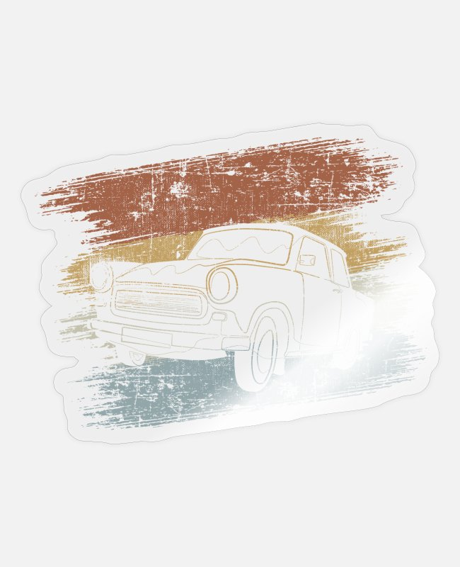 Electro-mechanical Engineers Stickers - Car classic car - Sticker transparent glossy