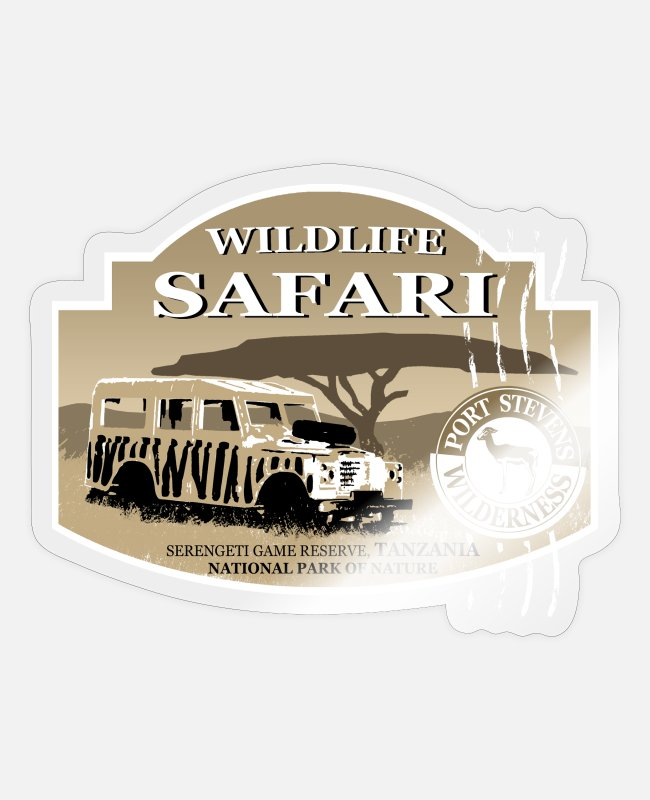 Savannah Stickers - Landrover - Jeep - Safari - Africa - Sticker transparent glossy
