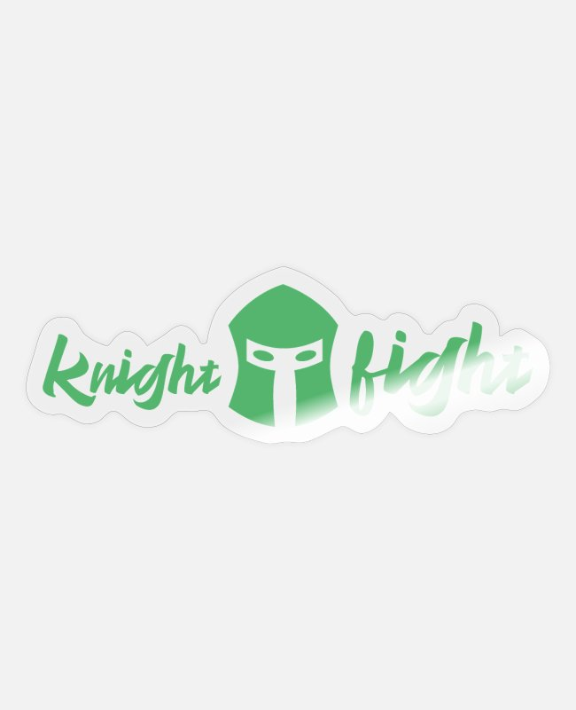 Competition Stickers - Knight fight fighter - Sticker transparent glossy