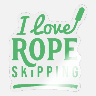 Rope Rope jump rope jumping Rope jumpers ropes rope - Sticker