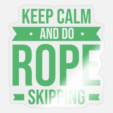 Rope Rope skipper jumping rope ropes jump rope - Sticker