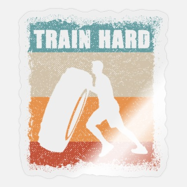 Power Lifting Train Hard / Fitness / Power lifting / workout - Sticker