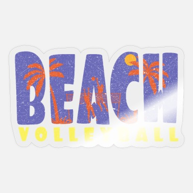 Beach Beach volleyball Beach volleyball Beach volleyball - Sticker