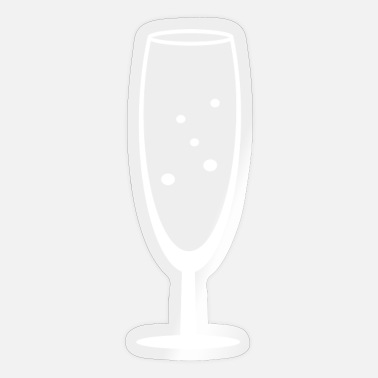 Champagne Glass champagne glass - Sticker