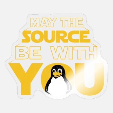 Open May the Source be with you Dark lustig Nerd - Sticker