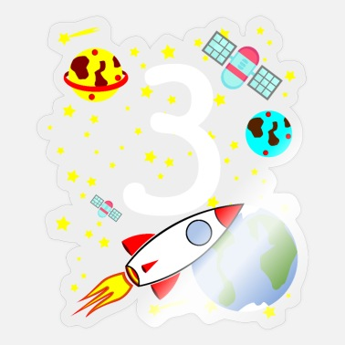 Birthday Rocket 3rd Birthday Boy Space 3 jaar - Sticker