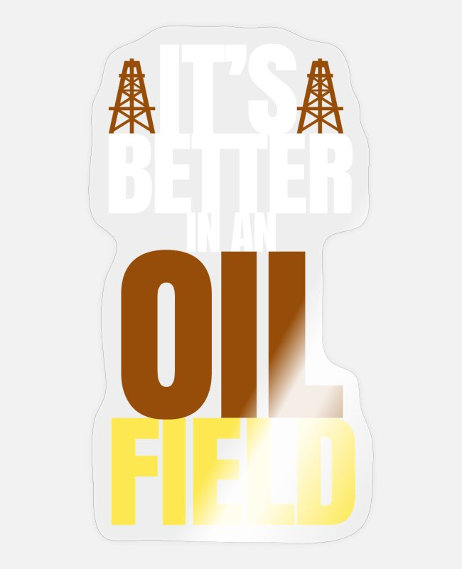 Industry Stickers - oilfield - Sticker transparent glossy