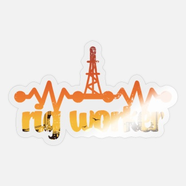 Oil Rig Oil rig worker gift idea - Sticker