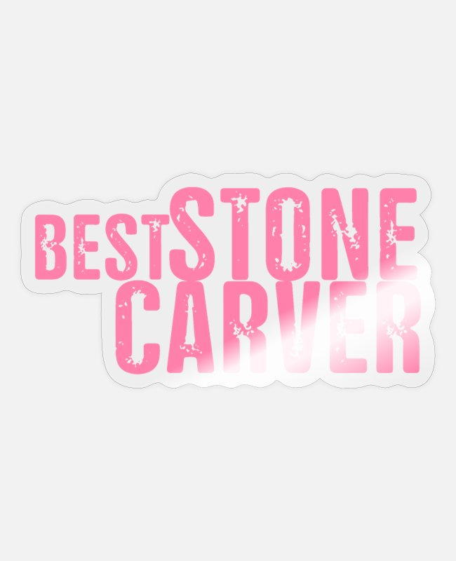 Occupation Stickers - Stone carving stone mason Steinhauer mum - Sticker transparent glossy