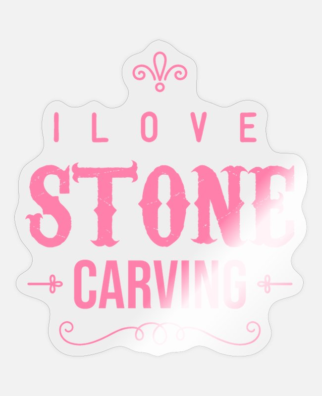 Occupation Stickers - Stone carving stone carving stones Steinmetz - Sticker transparent glossy