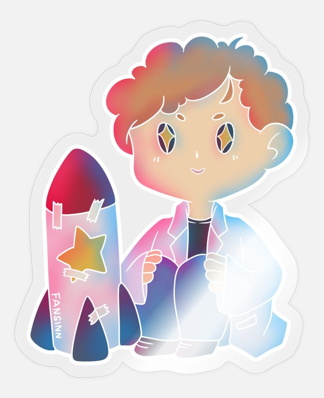 Professor Stickers - Science research missile spaceflight gift - Sticker transparent glossy