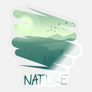 The Nature Retro Style gr - Pegatina
