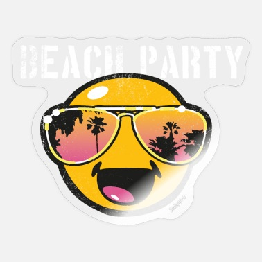 Beachparty SmileyWorld 'Beachparty' teenager t-shirt - Sticker
