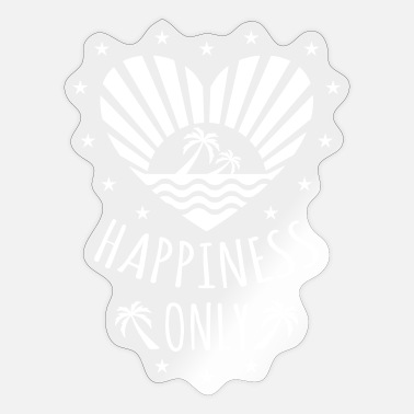 132 Happiness Only Heart Sun Palms - Sticker