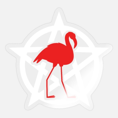 Satanists Flamingo Satan Satanist Halloween Pentagram - Sticker