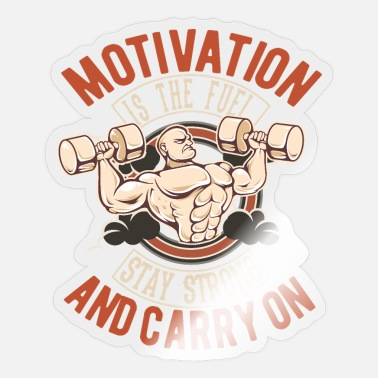 Training Motivatie fitness training gym - Sticker