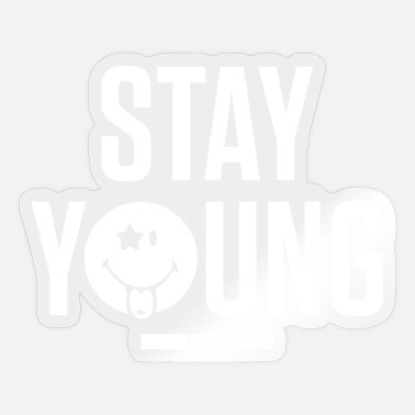 SmileyWorld Stay Young - Sticker