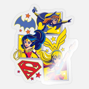 Super DC Super Hero Girls Batgirl Wonder Woman Supergirl - Sticker