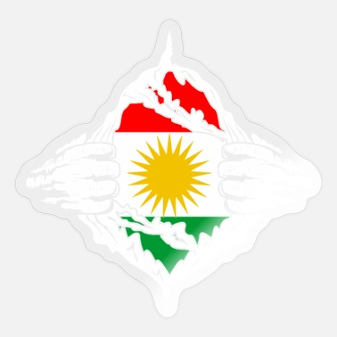 Kurds Kurdistan Kurd flag - Sticker