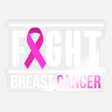 Breast Cancer Ribbon Breast Cancer Fight Ribbon Breast Cancer Ribbon - Sticker