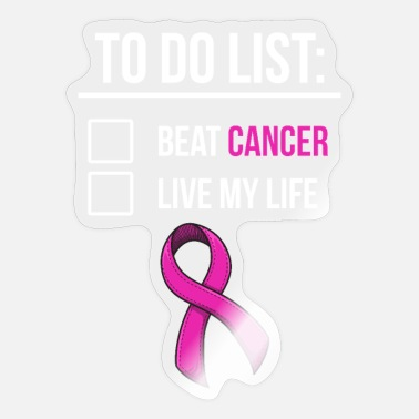 Breast Cancer Ribbon Breast Cancer To Do List Breast Cancer Ribbon Pink - Sticker