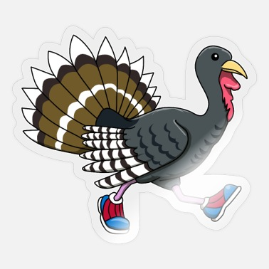Banquet Thanksgiving turkey food november gift - Sticker