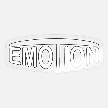 Emotion emoTion - white - Sticker
