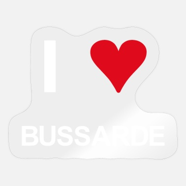 Bussard I love Bussarde - Sticker