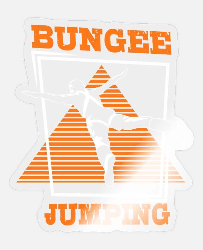Bungee Jumping Sticker - Bungee Jumping - Sticker Transparent glänzend