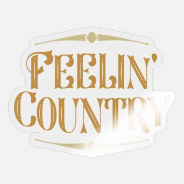 Country Muziek Country muziek Country muziek - Sticker