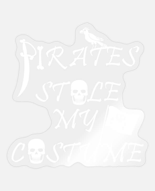Pirate Flag Stickers - Pirate Pirate Skull Piracy Treasure Gift - Sticker transparent glossy