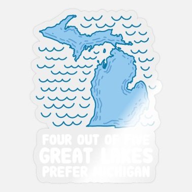 Five Great Lakes MICHIGAN STATE: Four Out Of Five Great Lakes - Sticker