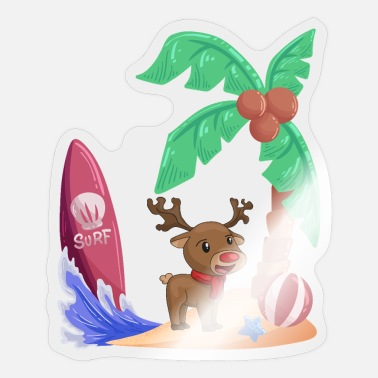 Holiday Island Christmas reindeer holiday island - Sticker