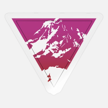 Mountain abstrakt kunst - Sticker